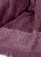 İrya Jakarlı Püsküllü Havlu 50*90 Mor